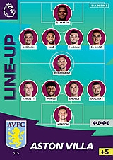 Aston Villa Line Up